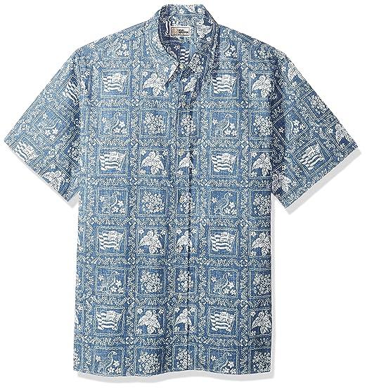 30e876ba Reyn Spooner Men's Plus Size Lahaina Sailor Spooner Kloth Classic Fit  Hawaiian Shirt, Denim,