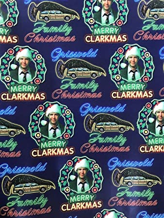 Griswold Family Christmas.Merry Clarkmas Griswold Family Christmas Holiday Wrapping Paper Gift Wrap 3 33 X 18
