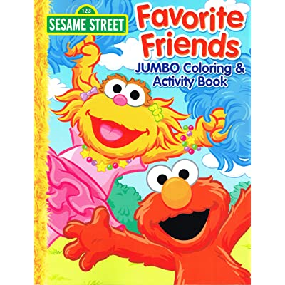 "2013 Sesame Street ""Favorite Friends"" Elmo JUMBO Coloring & activity Book for Kids - 96 Pages: Toys & Games"