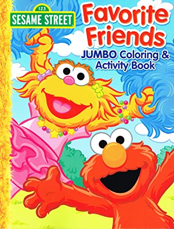 2013 Sesame Street QuotFavorite Friendsquot Elmo JUMBO Coloring Activity Book