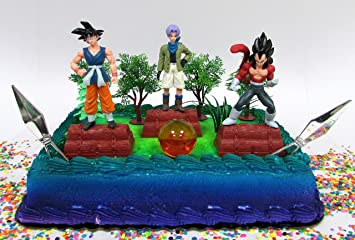 Buy Dragon Ball Z Birthday Cake Topper Set Featuring Characters And Themed Decorative Accessories Online At Low Prices In India