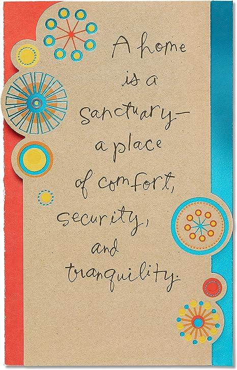 Amazon.com: American Greetings Sanctuary New Home tarjeta de ...