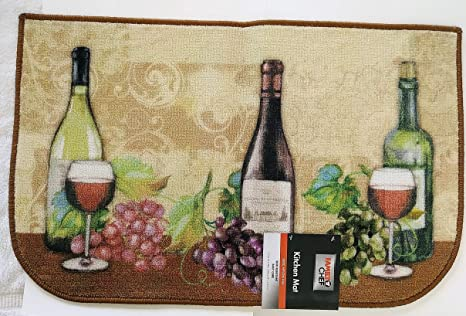 Amazon.com: Tuscan Kitchen MAT Area Rug Wine Grapes Vines ...