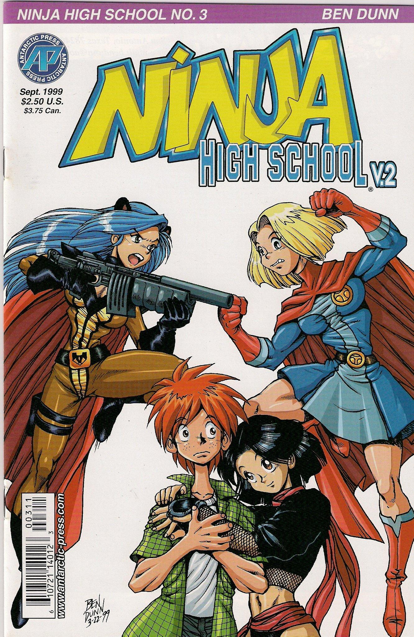 NINJA HIGH SCHOOL VOLUME 2 NO. 3 MANGA ANTARCTIC PRESS ...