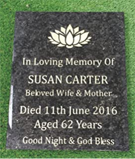 Personalised Grave Marker With Flower Pot-Vase Funeral Tribute ...