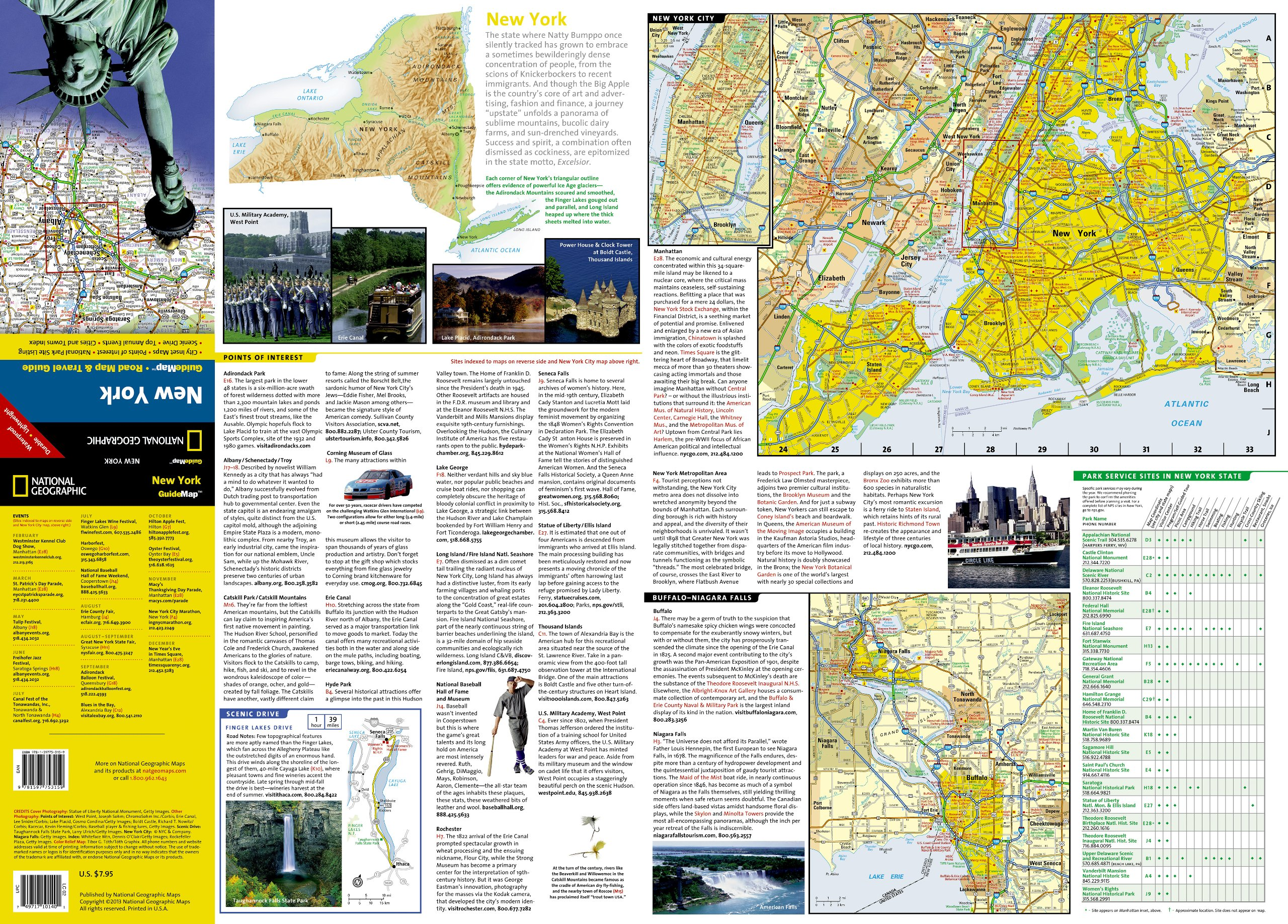 new york national geographic guide map national geographic maps 9781597753159 amazoncom books