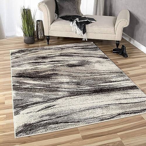 Distressed Cream 9 x 12 Area Rug Carpet Large New 6446