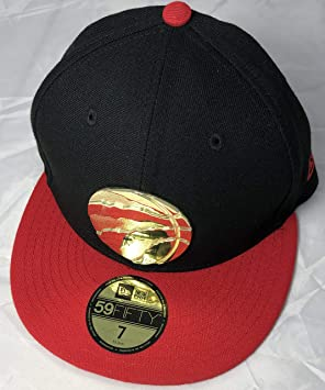 buy popular 384db 67cdb Toronto Raptors NEW ERA Golden Finish 59FIFTY Fitted Black RED Gold,  Baseball Caps - Amazon Canada