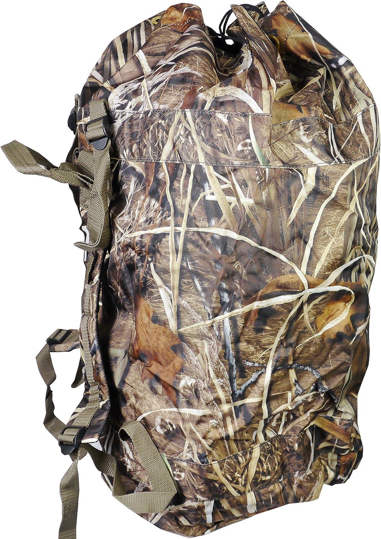Bolsa de 120 Litros de se/ñuelos de tiro Mochila verde ca/ña atrayendo con se/ñuelos la caza de patos y gansos