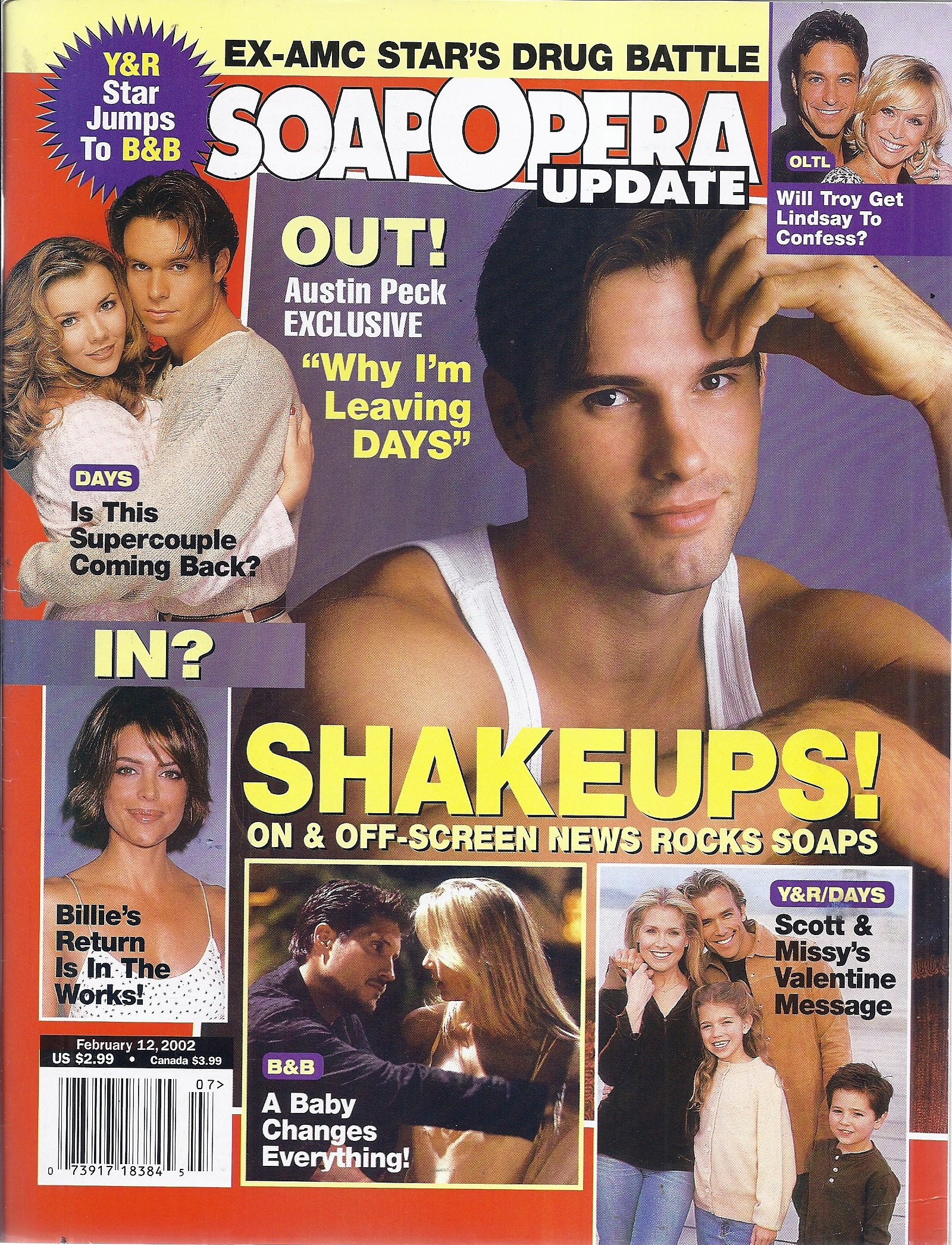 Soap Opera Update Magazine February 12 2002 Cover Austin Peck V Amazon Com Books