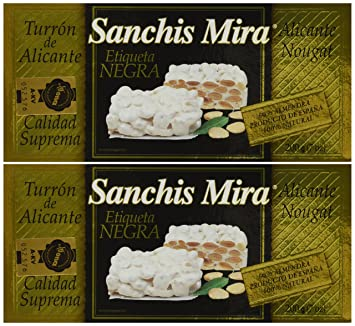 Sanchis Mira Turron de Alicante 200 grs. (7oz.) pack of 2