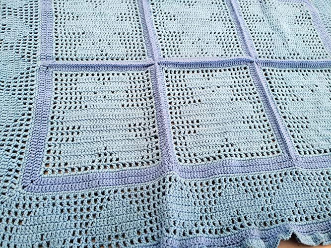 Amazon Baby Blanket Crocheted Blanket Blue Baby Afghan With