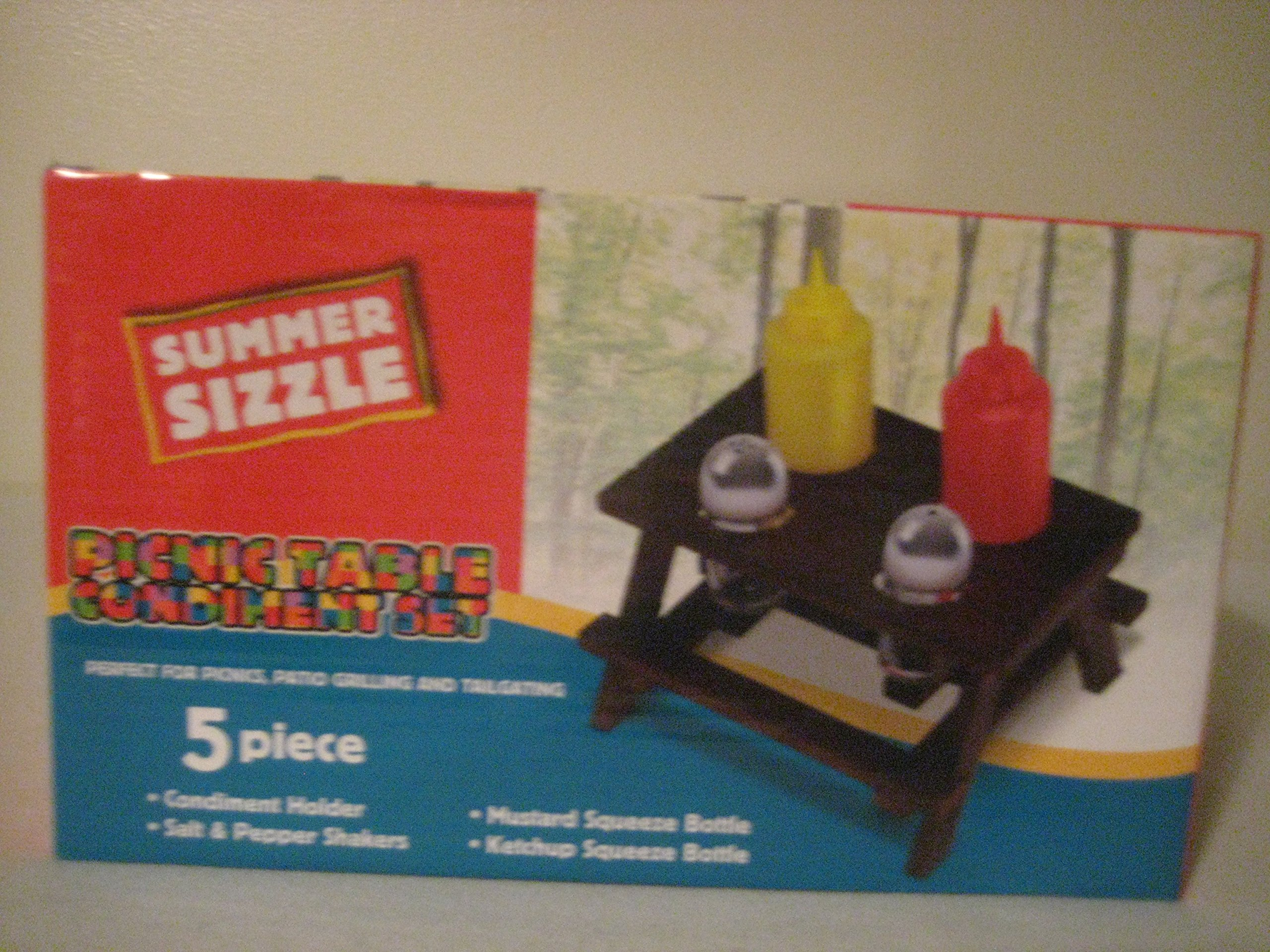 Summer Sizzle Picnic Table Condiment Set Buy Online In Cayman Islands At Cayman Desertcart Com Productid 20228002