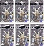 """6 Pack Bundle - 3"""" Right & Left Antler Drawer / Cabinet Pull - Deer Hunting Cabin Decor"""