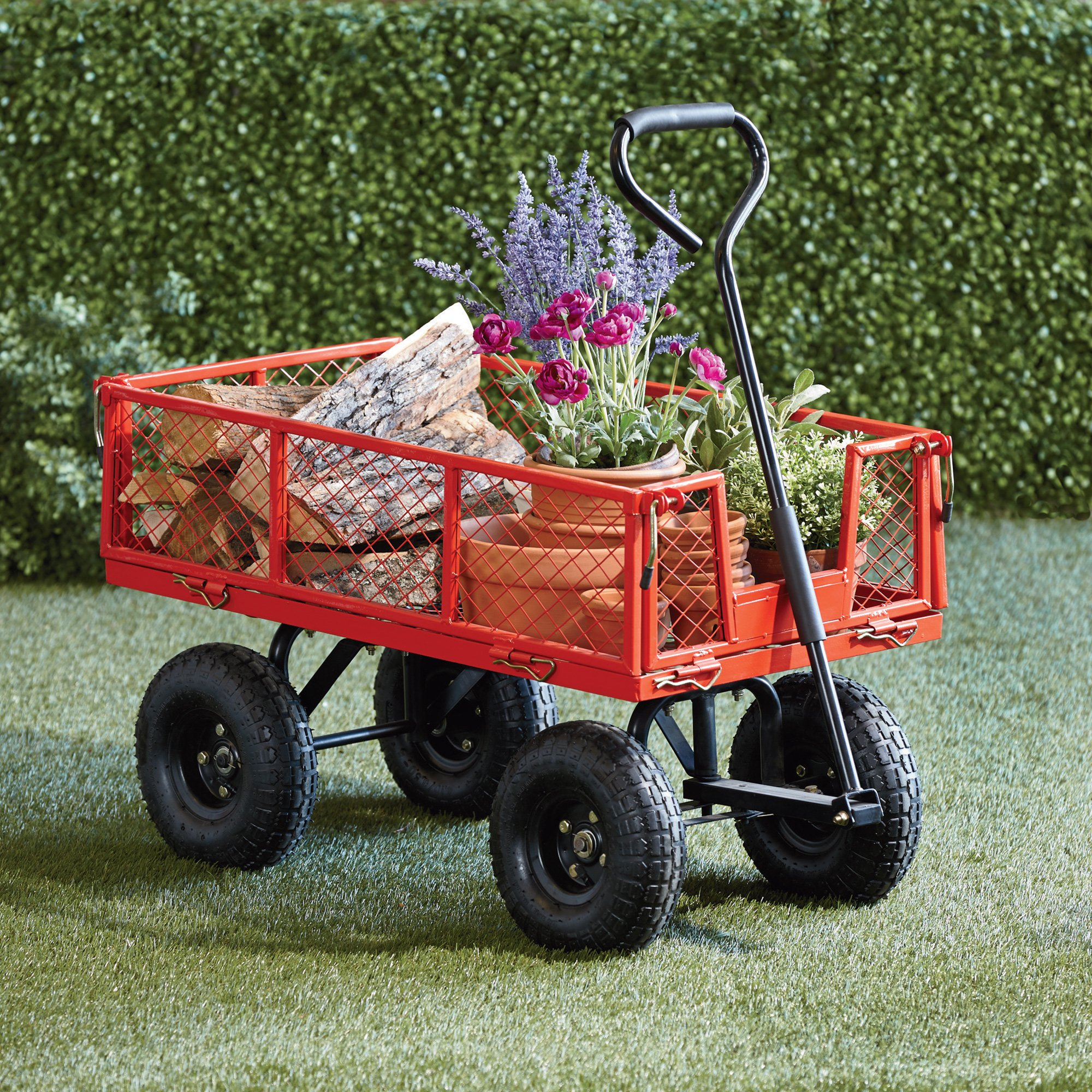 Steel Cart, 34in.L x 18in.W, 400-Lb. Capacity by Ironton (Image #4)