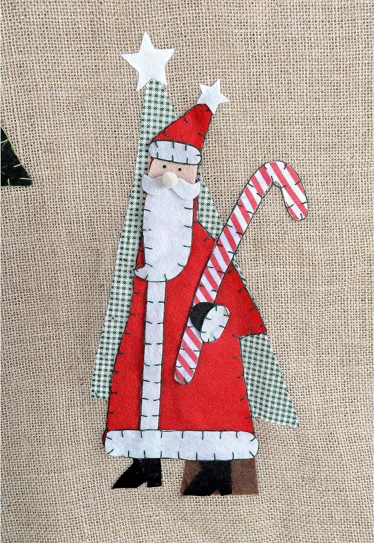 colore WeRChristmas-Babbo Natale 122 cm-Copribase per albero di Natale marrone multicolore