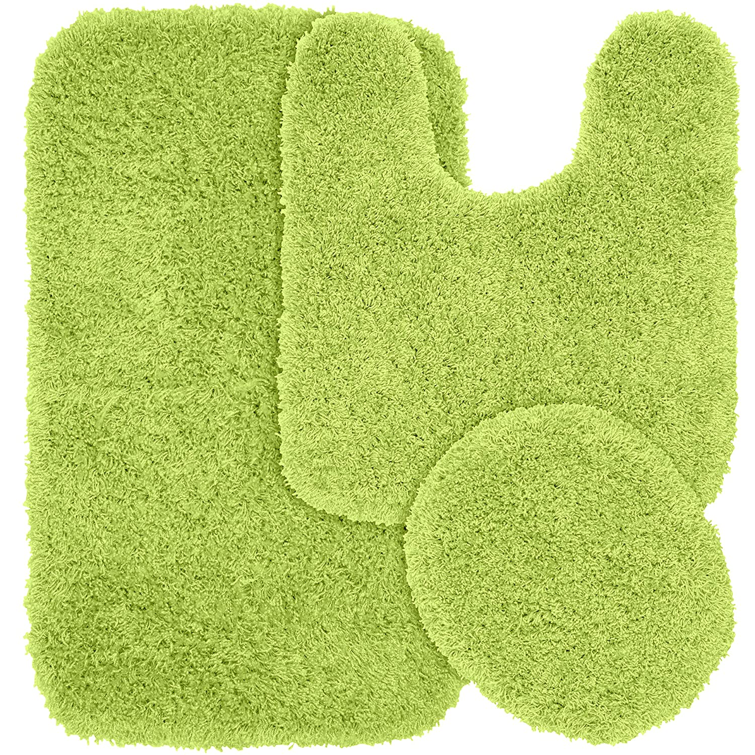 Amazoncom Garland Rug Piece Jazz Shaggy Washable Nylon - Lime green bath mat for bathroom decorating ideas