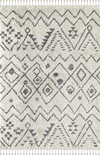 Moroccan Tribal Print 7' 9″ x 10' 2″ Rectangle Area Rug