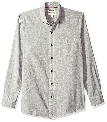 f68ab01a7ebd Goodthreads Men's Standard-Fit Long-Sleeve Heather Flannel Shirt, Light  Grey, X