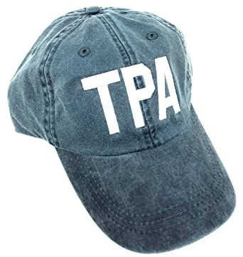 76e904d54 Custom Embroidered TPA Tampa International Airport Code Hat (Pigment Dyed  Blue)