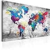 murando - Bilder Weltkarte 200x80 cm Vlies Leinwandbild 5