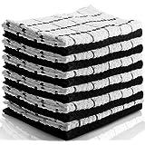 Amazon Price History for:Utopia Towels Kitchen Towels (12 Pack, 15x25 Inch) Pure Cotton Machine Washable 6 Black and 6 White Dobby Kitchen Dish Cloths, Tea Towels, Bar Towels