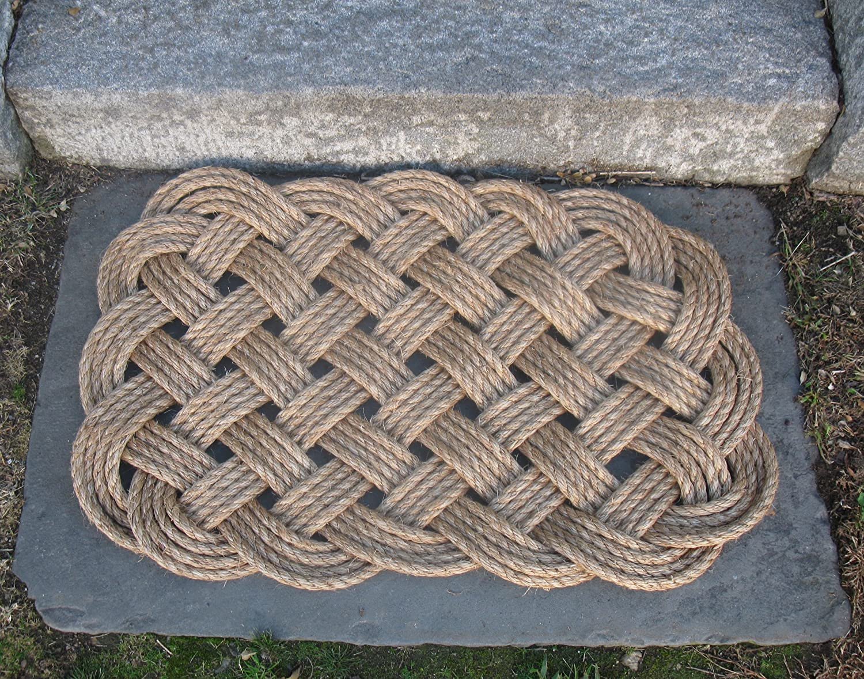 Nautical Manila Rope Door Mat 4 Pass Square
