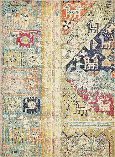 Unique Loom Monterey Collection Bohemian Tribal Vintage Bright Colors Multi Area Rug 9 0 x 12 0