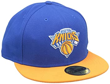 89cda1399cbe9 New Era Casquette de Baseball pour Adulte NBA Basic New York Knicks 59  Fifty Fitted Bleu
