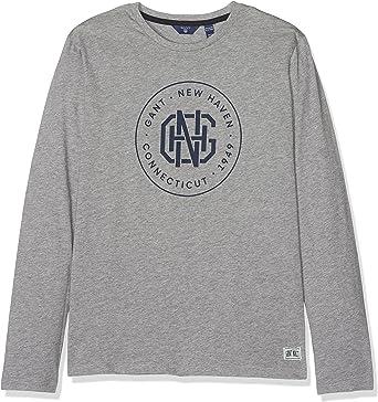 GANT New Haven Long Sleeve T-Shirt Camisa Manga Larga para Niños