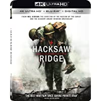 Hacksaw Ridge (Uncut) [4K Ultra HD + Blu-ray + Digital HD + UltraViolet] (2016) | Includes SlipCover | Dolby ATMOS | Imported from USA | Lionsgate Films | 139 min | Region A Locked | Biography Drama History | Director: Mel Gibson | Starring: Andrew Garfield