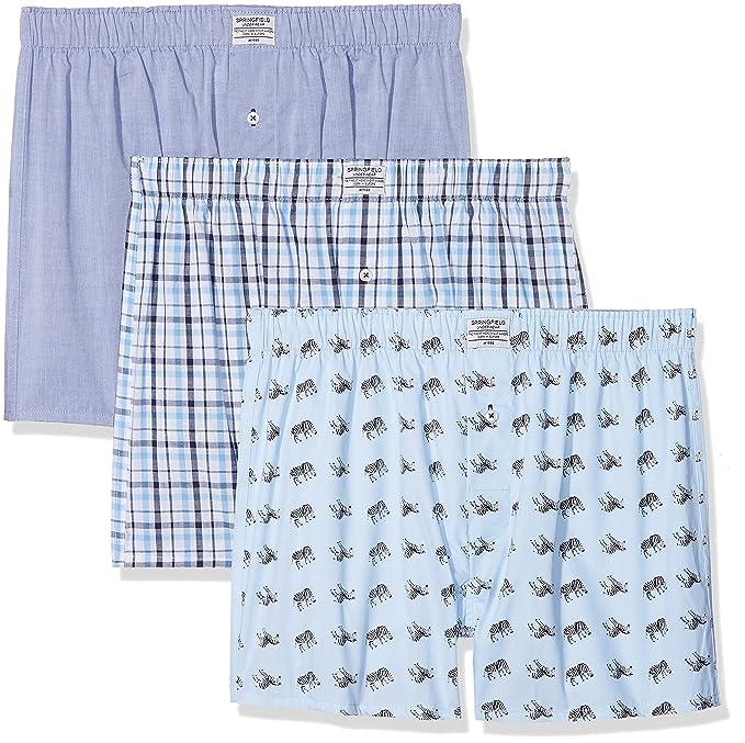 Springfield 1163515, Bóxer para Hombre, (Gama Azules), Small (Tamaño del Fabricante:S): Amazon.es: Ropa y accesorios