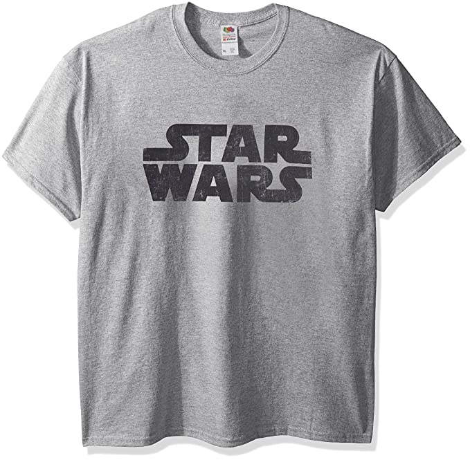 a1437700a Star Wars Men's Simplest Logo Graphic Tee, Athletic Heather, Small