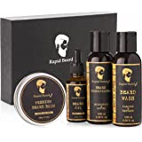 Beard Grooming kit for Men Care - Unscented Beard Oil, Beard Shampoo Wash, Beard Conditioner Softener, Beard Balm Leave…