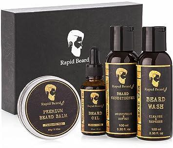 Beard Grooming kit for Men Care - Unscented Beard Oil, Beard Shampoo Wash,  Beard Conditioner
