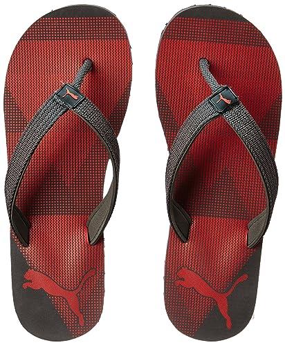 2ccc335dc8e9 Puma Men s Insta IDP Dark Shadow-Poppy Red Flip Flops Thong Sandals - 11 UK