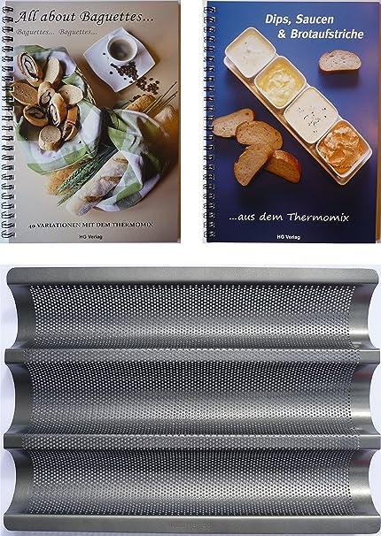 XL-Set Baguette chapa + 2 libros: All About baguetes + unidades, salsas