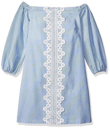 Eliza J Women S Shoulder Seersucker Dress Regular Petite At