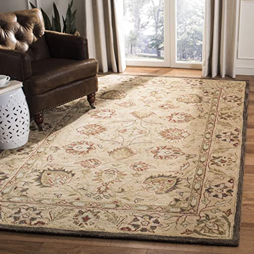 Safavieh Anatolia Collection AN512A Handmade Traditional Oriental Beige Premium Wool Area Rug 8' x 10'