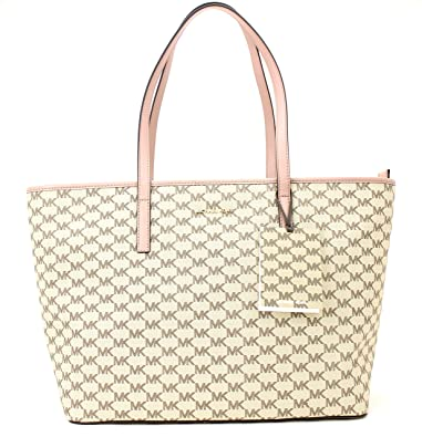 2f1ed352fceb Image Unavailable. Image not available for. Color: Michael Kors Large Top  Zip Tote (Natural/Fawn)