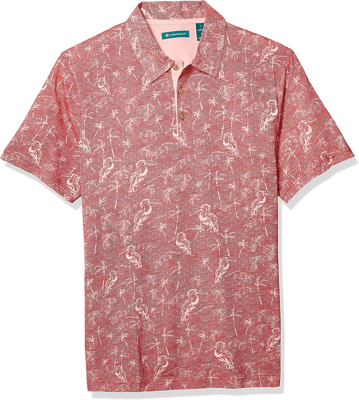 Cubavera Men's Toucan Print Short 5 ☆ Be super welcome popular Shirt Polo Sleeve