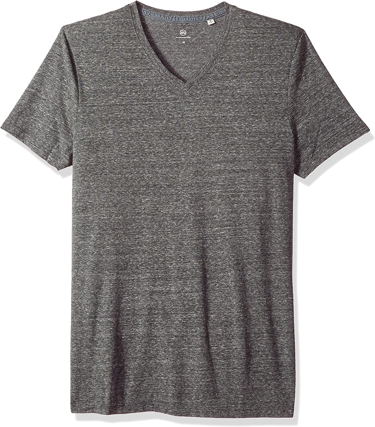 AG Adriano Goldschmied Men's Bryce Short Sleeve Heathered Vee Neck Tee