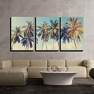 Hawaiian Afternoon Canvas Wall Art Print Palm Tree Home Decor