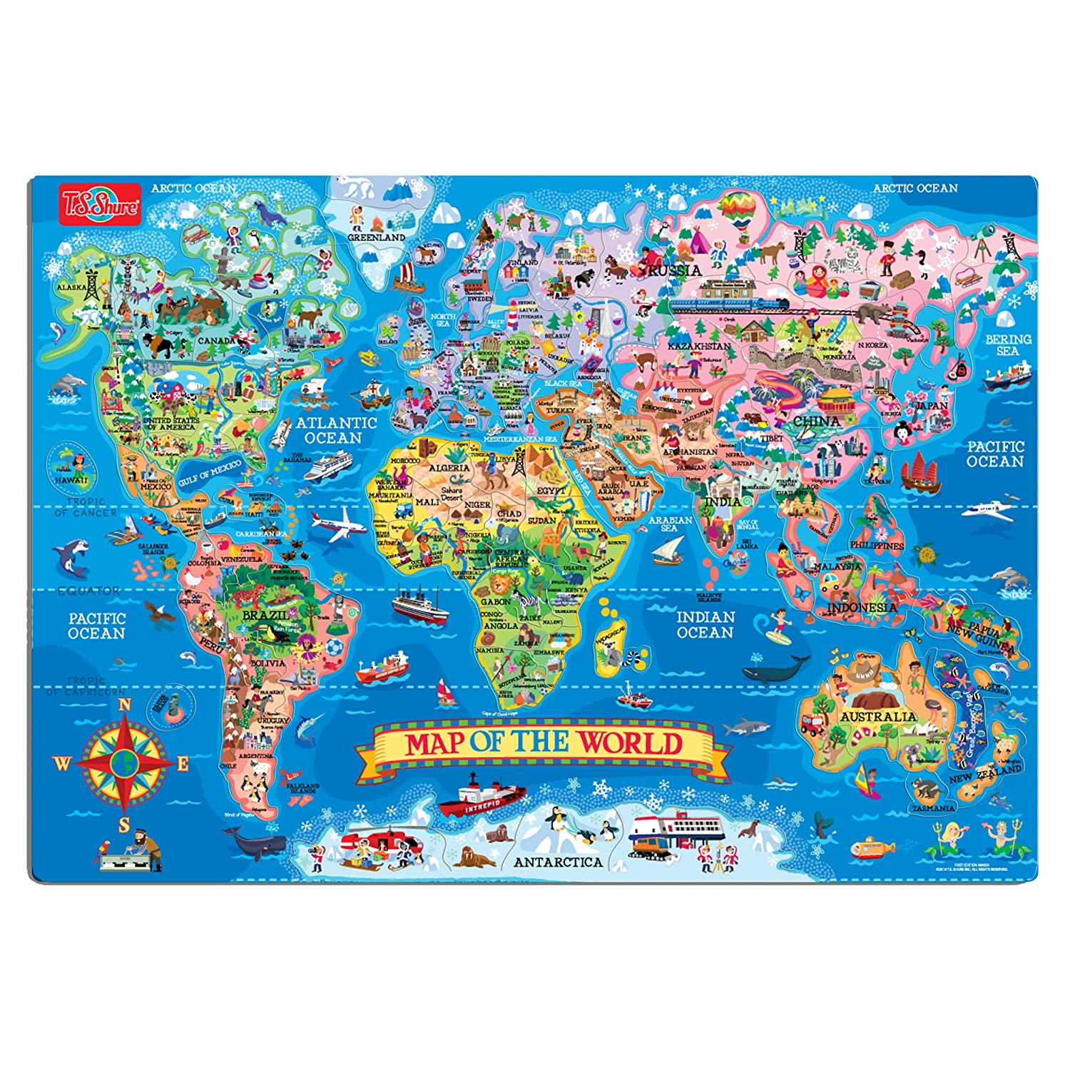 Amazon ts shure map of the world magnetic playboard and amazon ts shure map of the world magnetic playboard and puzzle toys games gumiabroncs Choice Image