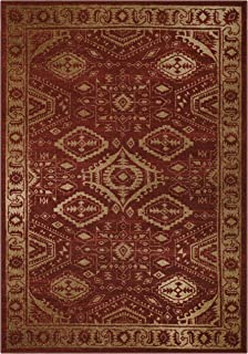 product image for Maples Rugs Georgina Traditional Area Rugs for Living Room & Bedroom [Made in USA], 5 x 7, Red/Gold
