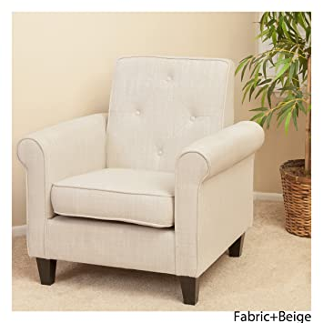 christopher furniture throughout christopher knight home 214526 isaac tufted fabric club chair beige amazoncom