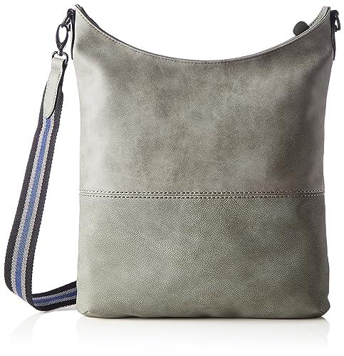 s.Oliver Bags Shoulder Bag, Sacs portés épaule femme, Grau (Middle Grey), 4.5x38.5x32.5 cm (B x H T)