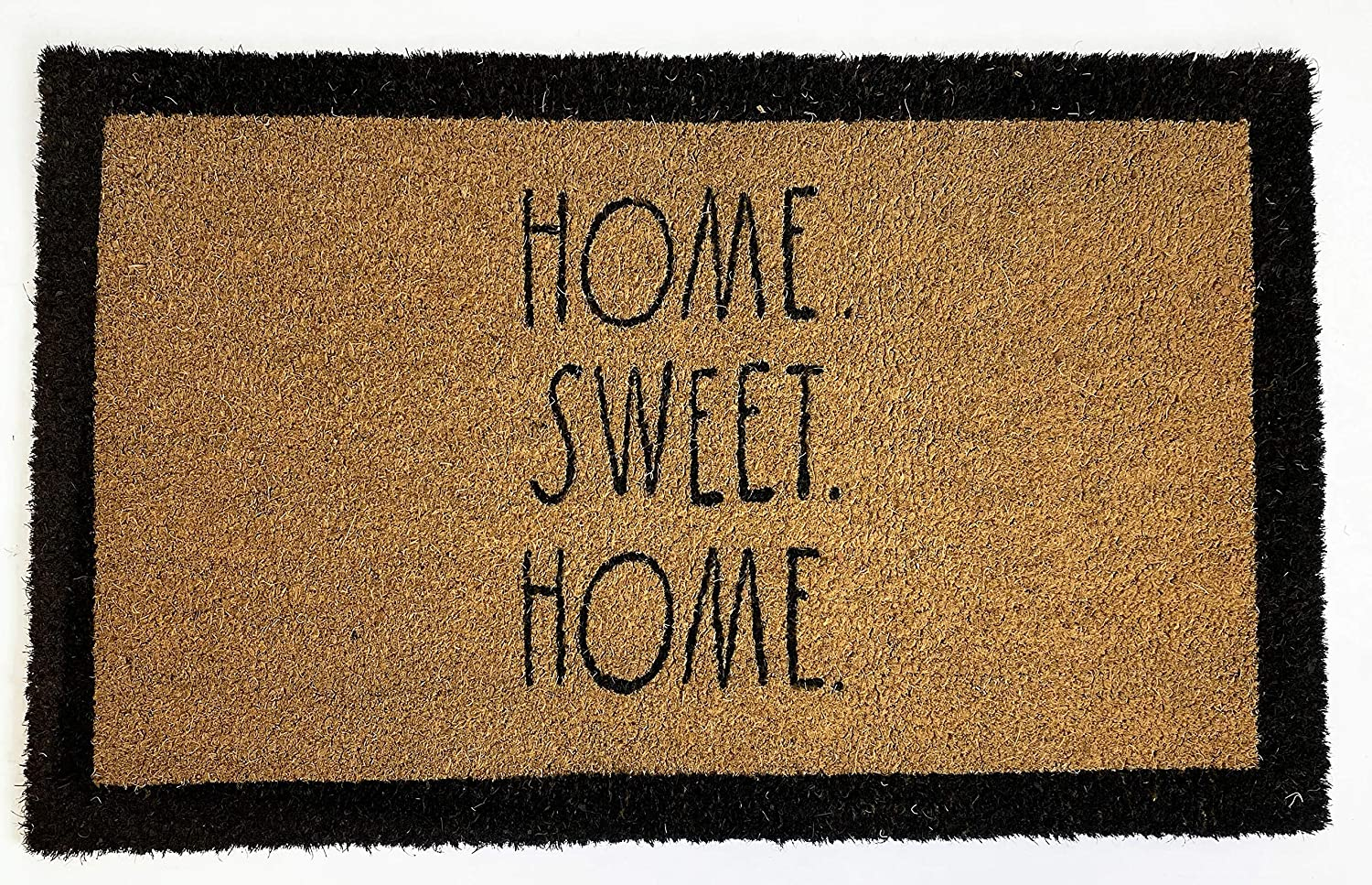 "Rae Dunn Home Sweet Home Door Mat - 24"" x 36"" Welcome Mat - Coco Coir Coconut Fiber and Waterproof Rubber Back - Cute Decor Indoor and Outdoor Rug for Front Porch, Entrance, Entryway, Patio"