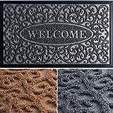 Door Mat - Welcome Mat - Door Mats Outdoor - Fall Door Mat - 30x18 Welcome Mats Outdoor - Grey Entryway Rug - Doormat