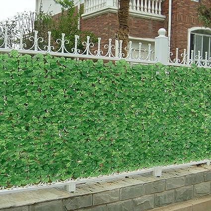 neu.haus] Siepe artificiale con foglie (150 x 300 cm) Protezione ...